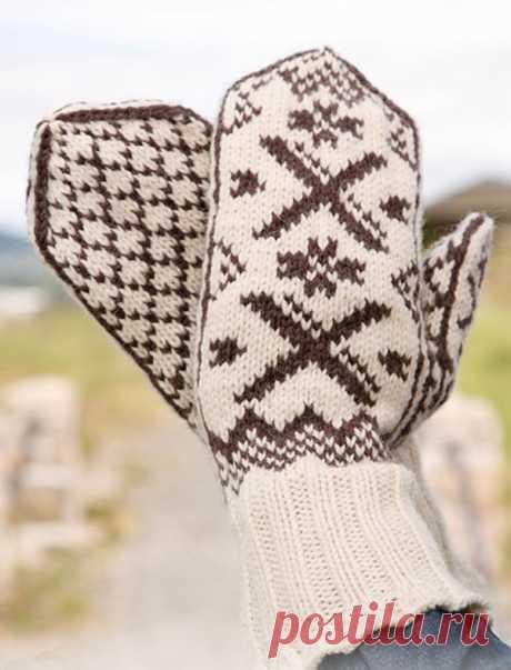 Варежки для мужчин и женщин от Drops Design вязаные спицами