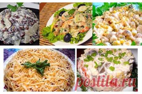 ТОП-5 Салатов с грибами Подборка самых простых и вкусных рецептов.