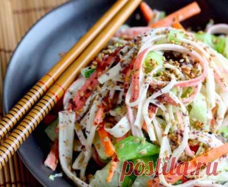 Вкусный салат из крабовых палочек - пошаговый рецепт с фото на Повар.ру