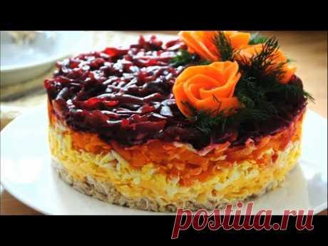 Вкусный салат на праздник ГЕНЕРАЛ 🌟Простой салат на НОВЫЙ ГОД 2020 со свеклой и курицей 🌟 - YouTube