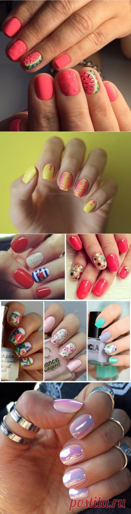 Лето уже скоро! Летний дизайн ногтей 2017-2018 - фото, новинки летнего дизайна ногтей | topxstyle.ru