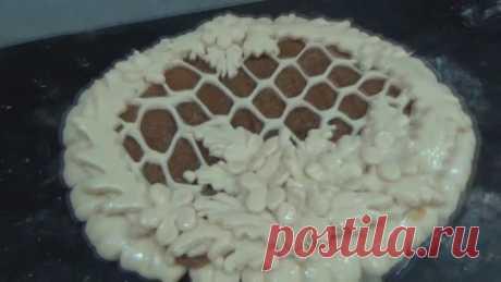 Красивое Формирование полуоткрытого пирога ! Подробный видео урок ! Рецепт !