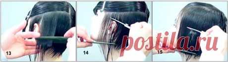 Классическая стрижка боб каре - техника поэтапно - Короткие стрижки - Стрижки - Каталог статей - Стрижки и прически своими руками