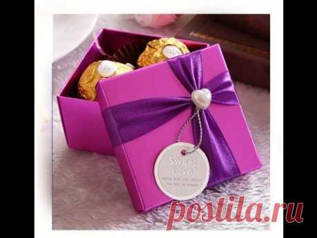 Origami candy box. Easy. Great ideas for Gift wrapping. Christmas gift box