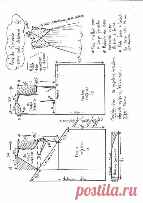 Расклешенное платье с оборками и диагональным козырьком - Marlene Mukai