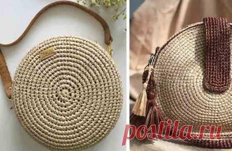 Круглые сумки крючком: схемы и описание вязания простых и красивых сумок