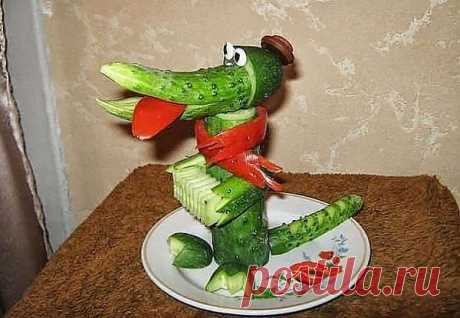 Фигурки из овощей и фруктов