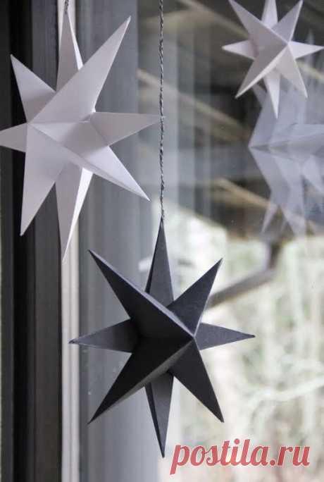 Как легко и быстро сделать стильную объемную звезду