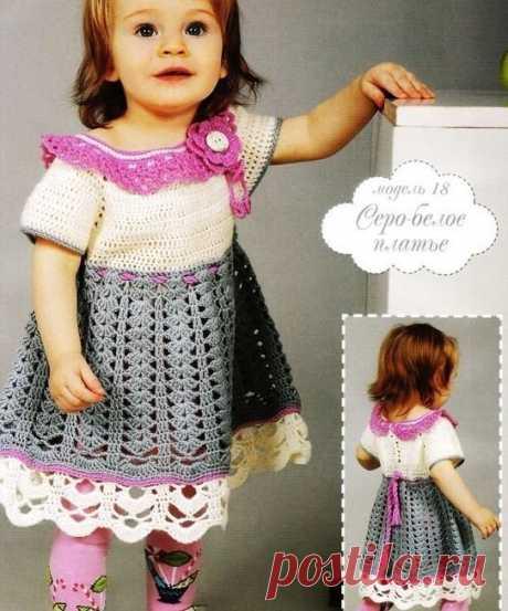 Детское платье крючком из категории Интересные идеи – Вязаные идеи, идеи для вязания