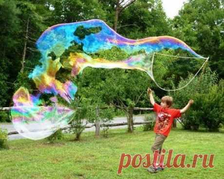 О секретах создания больших мыльных пузырей — Летний лагерь