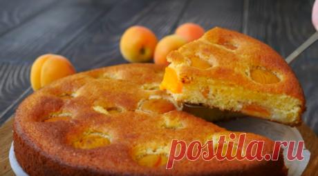 Самый Простой и Вкусный Пирог с Абрикосами | Рецепты: Вкусно, Быстро, Просто | Яндекс Дзен