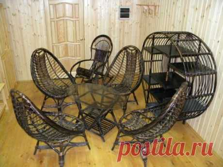 Los muebles trenzado de la cepa | KRI