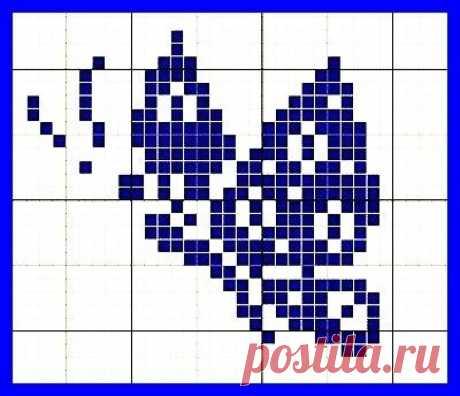 punto de cruz flores azules - Búsqueda de Google