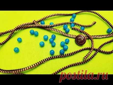 Шикарный браслет из змеек (молний). Zipper bracelet.由珠子和蛇制成的手链(拉链)