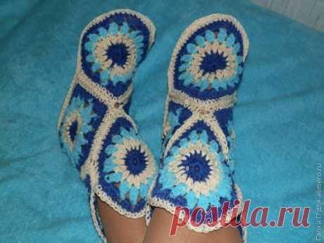 Геометрические носочки своими руками