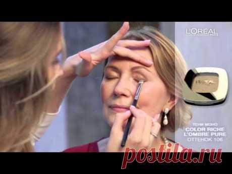 Мастер-класс №17: коррекция возрастных изменений и элегантный дневной макияж - YouTube