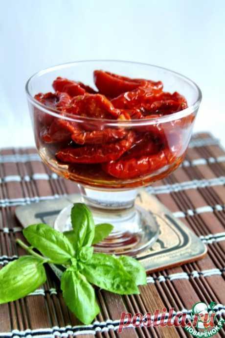 Вяленые томаты длительного хранения без холодильника – кулинарный рецепт