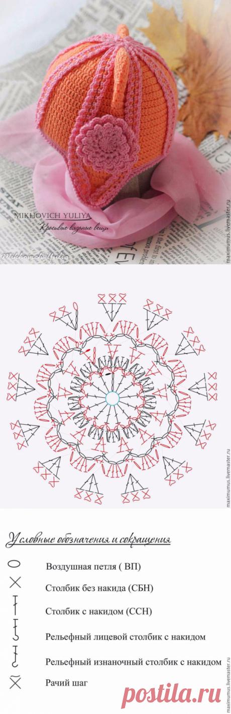 Вяжем крючком декоративный цветок