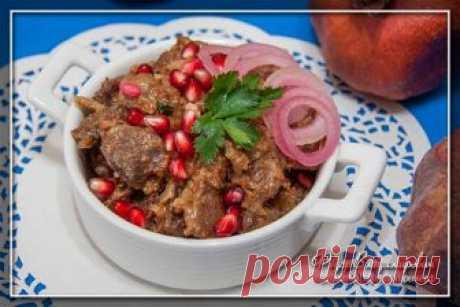 Кучмачи — тушеные потроха в соусе по-грузински