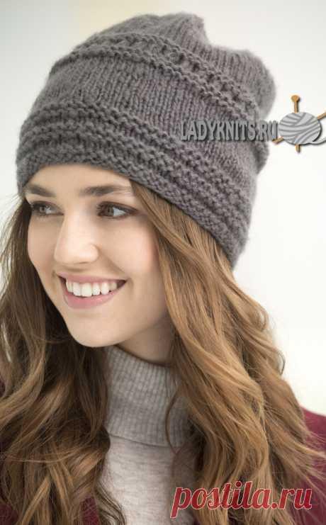 """Вязание простой, стильной шапки """"Тиволи"""" спицами"""