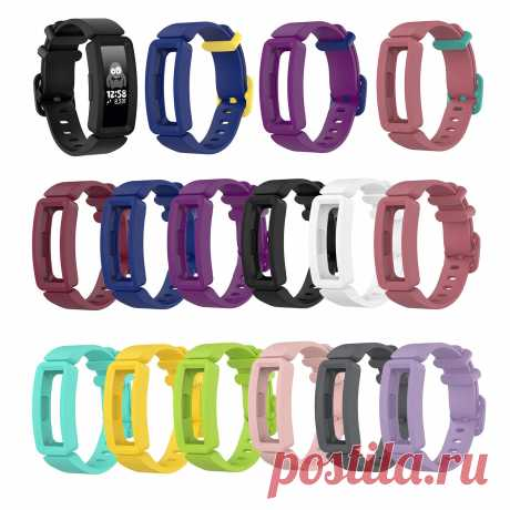 Bakeey Colorful Watch Band with Cover Case for Fitbit Ace 2 Inspire HR Smart Wat - US$4.99