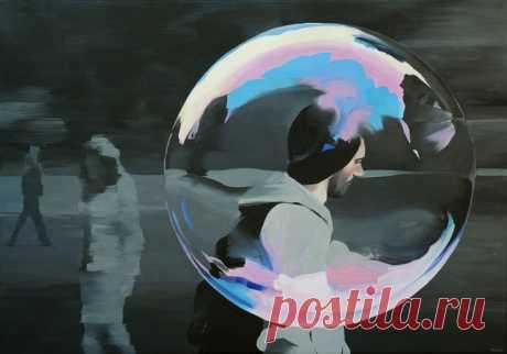 Затерялась душа... Художник-минималист Jarek Puczel / Ярек Пучель (Польша, 1965)