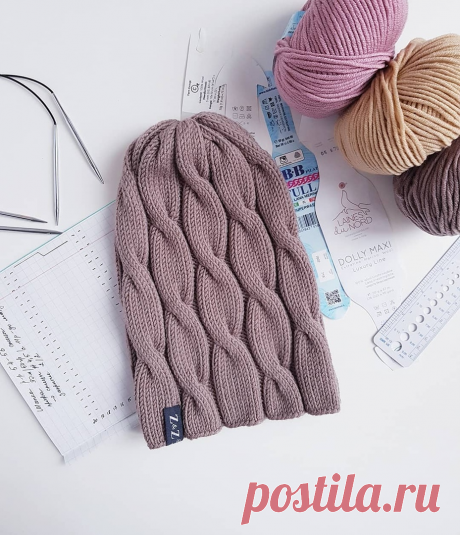 Стильные шапки спицами. 4 модели | Модное вязание | Яндекс Дзен