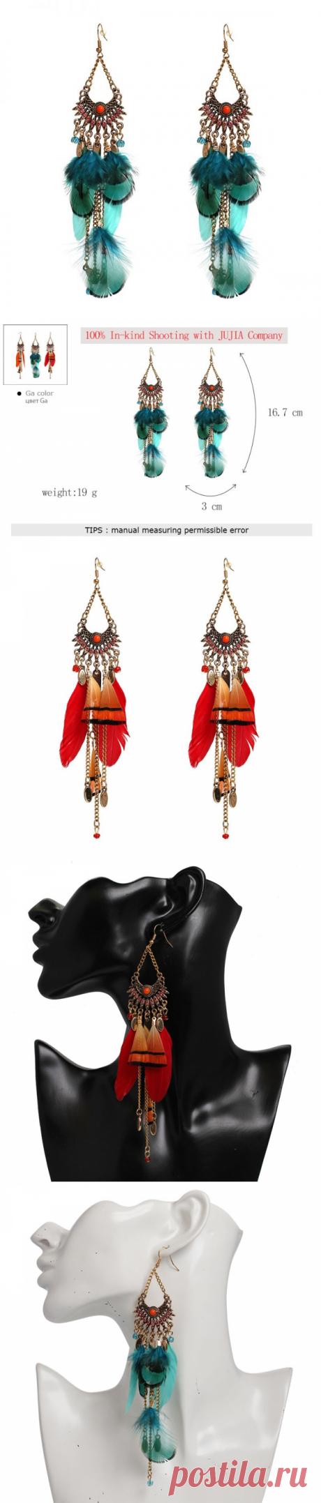 3 цвета Новые серьги ожерелья женщин способа женщин перьев устанавливают для серьги стержня девушки девушки девушки