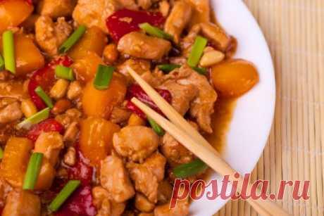 Цыпленок острый тушеный с овощами - Мясные блюда