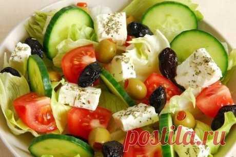 ТОП-7 ВКУСНЫХ САЛАТОВ БЕЗ МАЙОНЕЗА  1. Салат овощной с маслинами и фетой  ИНГРЕДИЕНТЫ: Показать полностью…