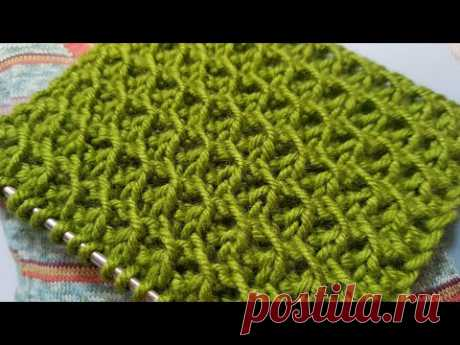 Идея для вязания фактурного узора спицами 🍂 knitting pattern.