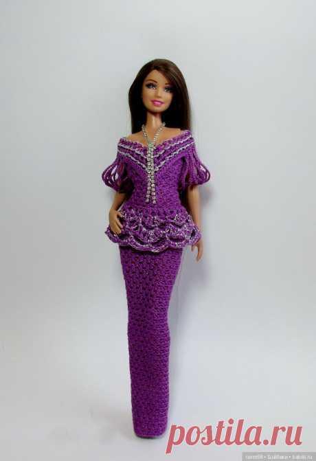 Описание вязания платья для Барби / Вязание для кукол / Бэйбики. Куклы фото. Одежда для кукол