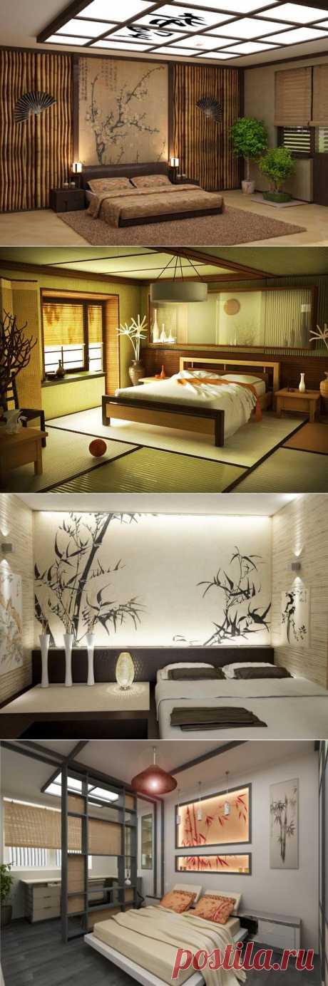 (+1) тема - Сдержанность, натуральность и функциональность: спальни в японском стиле   Роскошь и уют