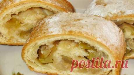 Югославский яблочный рулет. Вкусный домашний десерт. | Копилочка с рецептами | Яндекс Дзен
