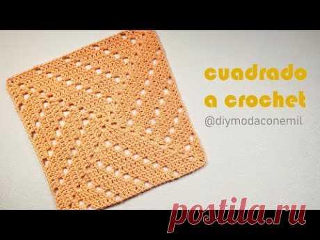 CUADRADO tejido a CROCHET idea para coclchas / DIY moda con Emil