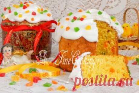 Творожный кулич Пасхальные куличи – это невероятно вкусная и ароматная домашняя выпечка.