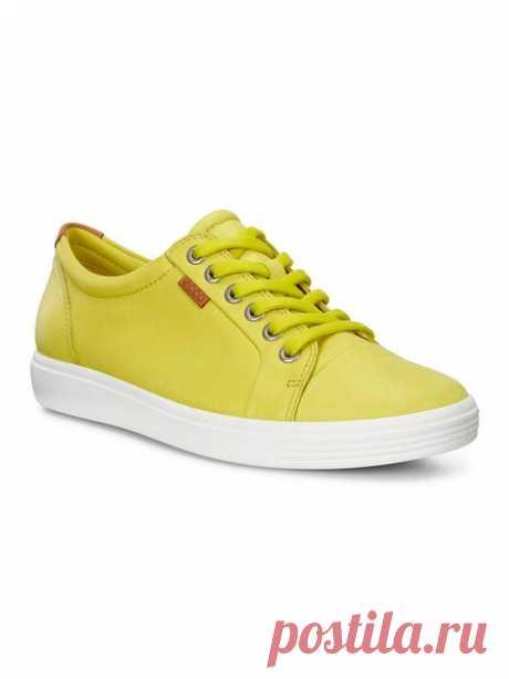 Кеды ECCO. Цвет желтый.