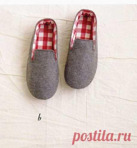 Las zapatillas por las manos