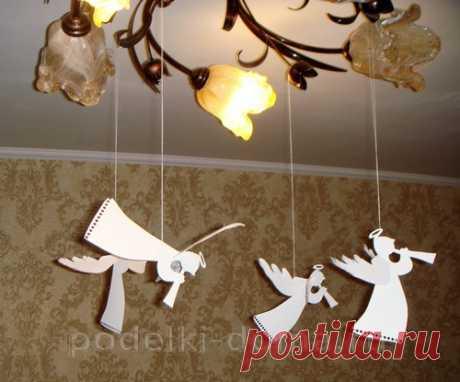 Ангелы из бумаги, белые (описание и трафареты) - Коробочка идей и мастер-классов