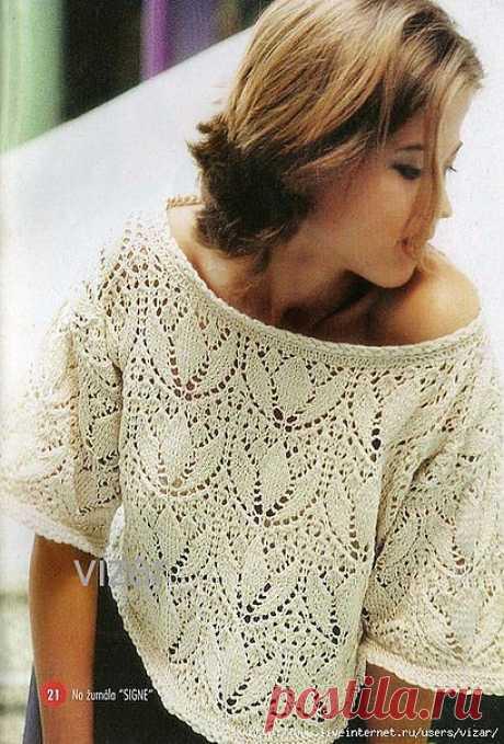 Ажурный пуловер..