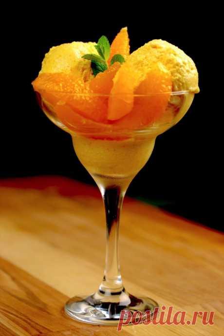 Домашнее апельсиновое мороженое. Вкуснее десерта я еще не пробовала!