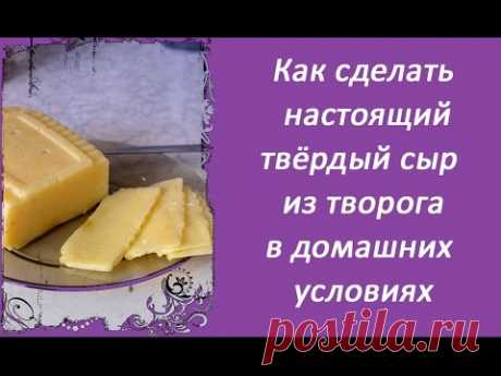 How to make the real firm cheese of cottage cheese in house conditions, the fast, simple and cheap recipe - YouTube