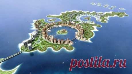 Искусственный остров в Катаре - Путешествуем вместе