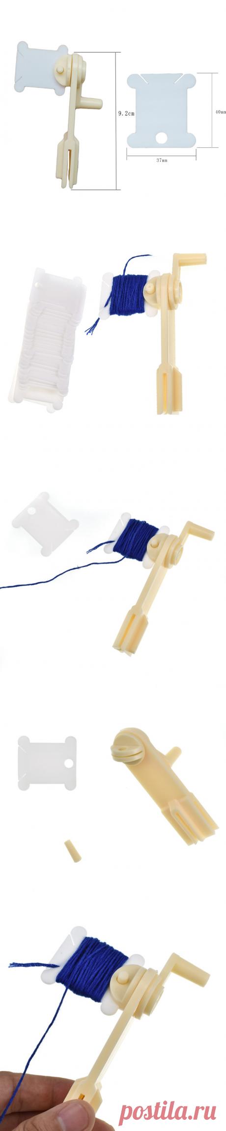 1 piezas de plástico Winder cuerdas con 30 piezas hilo dental bobinas bordado Cruz puntada hilo soporte de almacenamiento automático puntada DIY de coser herramienta|Herramientas de costura y accesorios| - AliExpress