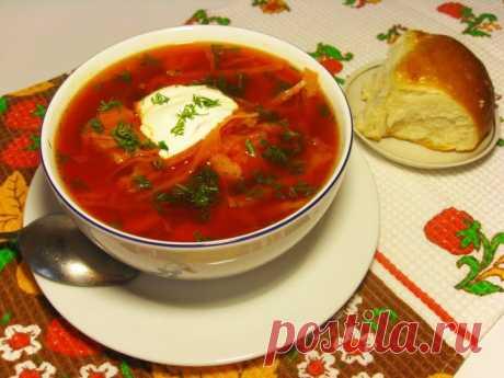 (+1) сообщ - Вкуснейший украинский борщ!   Любимые рецепты