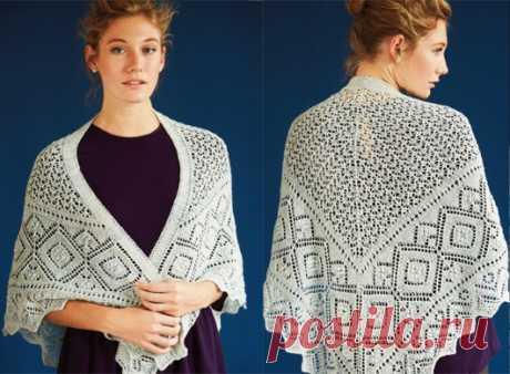 Вязание ажурной шали | ДОМОСЕДКА