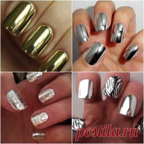Manicure on final 2013: gloss of metal