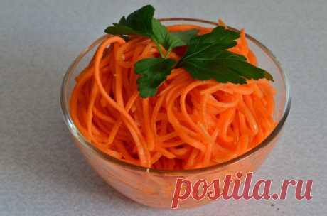 La receta correcta de la zanahoria en coreano - las recetas Simples Овкусе.ру
