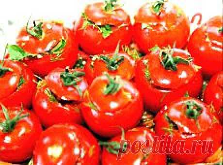 Малосольные помидоры по-армянски (с чесноком)..