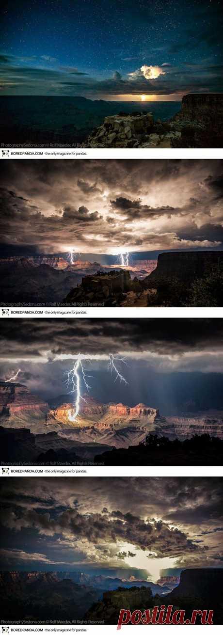 Потрясающие снимки молнии над Гранд Каньоном | Улетные картинки